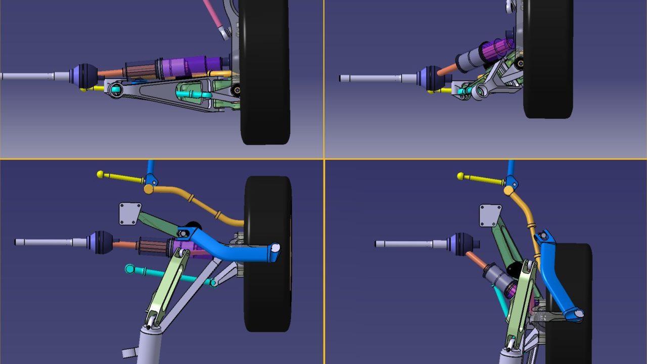 Aeromobil 4.0 Flying Car Suspension render