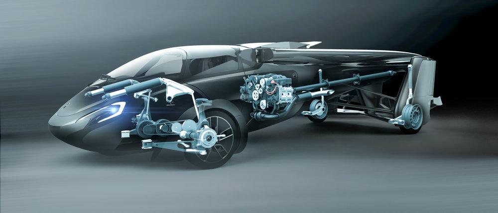 Aeromobil 4.0 Flying Car internal render
