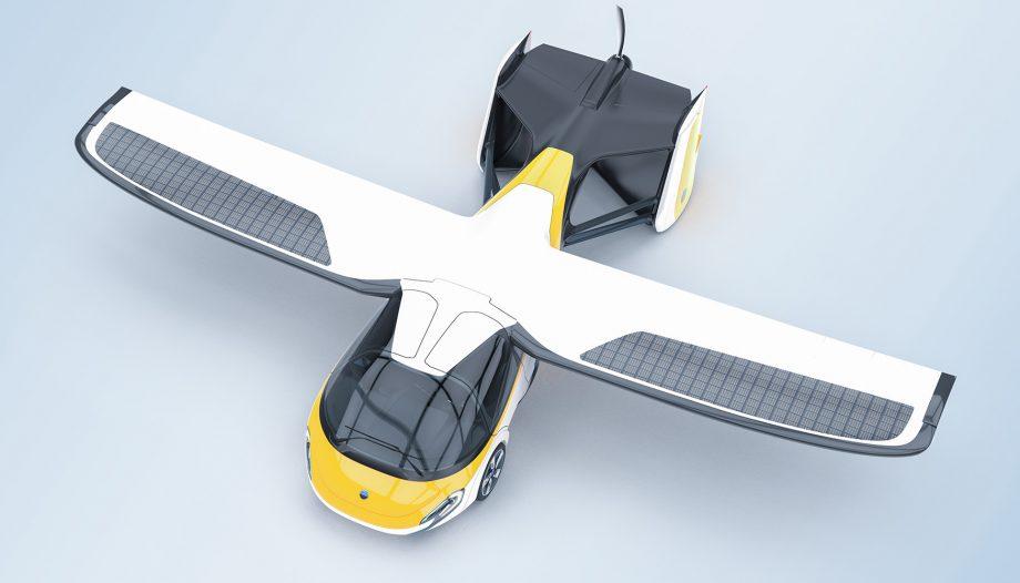 Aeromobil 4.0 Flying Car top render view