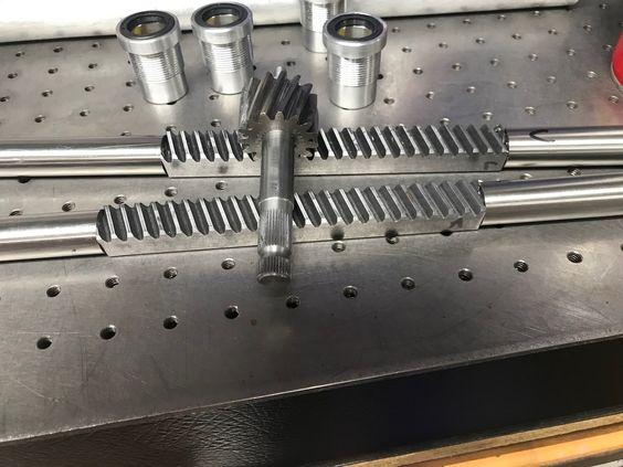 AutoSolo buggy custom steering rack