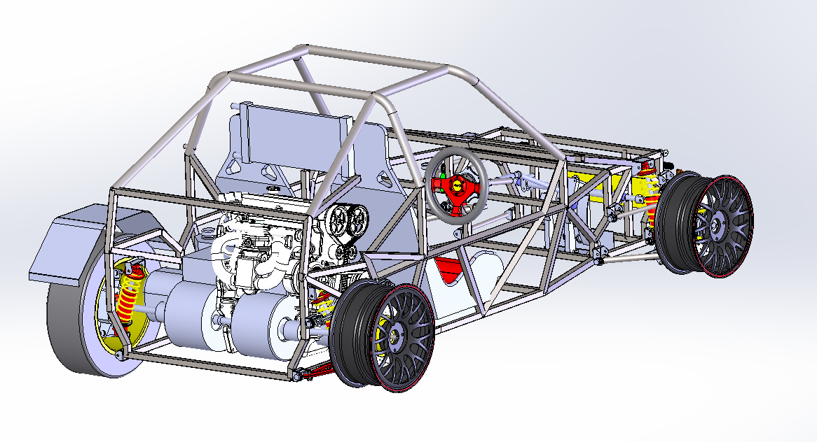 AutoSolo buggy chassis render
