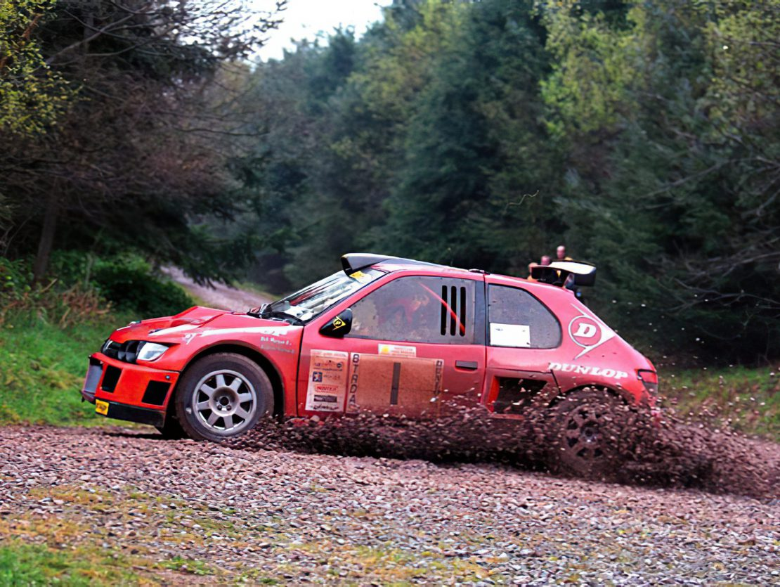 And Burton Peugot Cosworth Rally Car