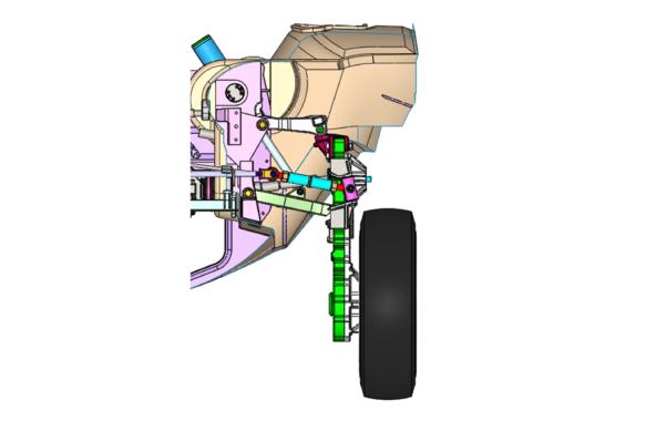 Gibbs susepnsion CAD render